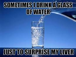 Water Meme - sometimes i drink a glass of water funny meme picture