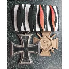 ww1 german iron cross 1914 class 2 and hindenburg cross original