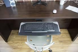 Mount Laptop Under Desk by Mount Kb01 Vivo Adjustable Computer Keyboard U0026amp Mouse Platform