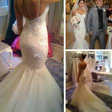 convertible mermaid wedding dress 2015 arrival michael cinco sheer backless garden wedding