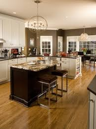 white kitchen cabinets color with chocolate brown wall paint and
