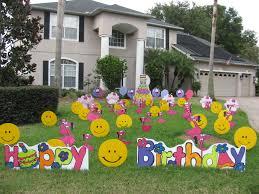 yard decorations for birthdays modern hd