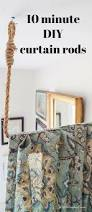 Wood Curtain Rings Unfinished by Best 25 Rustic Shower Curtain Rods Ideas On Pinterest Wood