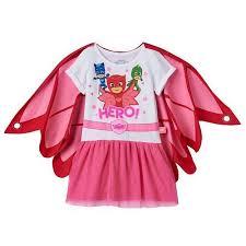 girls pj masks dress caped owlette wings catboy gekko costume