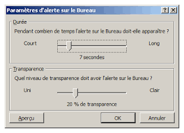 afficher outlook sur le bureau faq ms outlook toutes versions