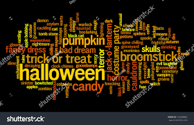black cat halloween background halloween words