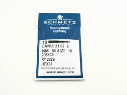 schmetz needles 10 pack 206x13 size 14 fits singer models 206 306