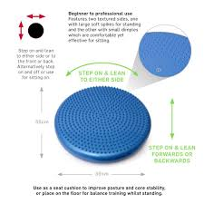 66fit balance wobble cushion u0026 pump includes balance training