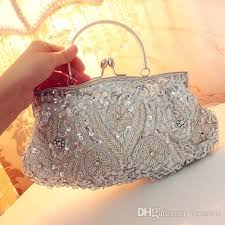 Sparkly Sequins Beading Elegant Women U0027s Evening Bags With Chain