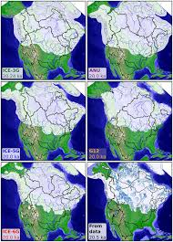 North America Ice Age Map by Reconstruction Of North American Drainage Basins And River
