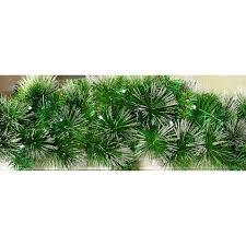pre lit garland green silver wreath b m