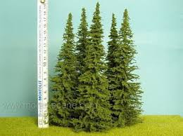 realistic spruce tree small 20cm set of 3 reality