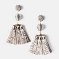 suzanna dai earrings suzanna dai tassel gumball earrings in grey cch collection