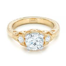 gold vintage engagement rings custom vintage diamond yellow gold engagement ring 102797
