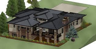 sloping lot house plans modern prairie plan rear sloping lot surprising charvoo