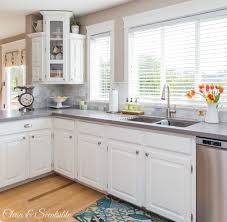 benjamin moore simply white kitchen cabinets white kitchen reveal home tour clean and scentsible