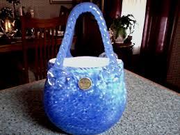 Murano Glass Purse Vase Block