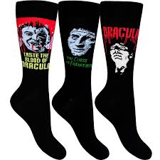 halloween socks mens socks hammer films three pack two dracula and one