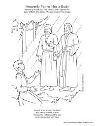 lds primary nativity coloring fathers handout church