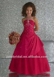 halter pink kids dresses for weddings in wedding dresses from