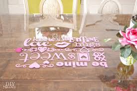 valentines day table runner s day decorating vinyl decal glass top table runner