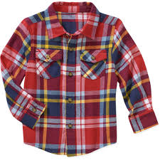healthtex baby toddler boy long sleeve flannel shirt walmart com