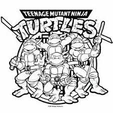 happy birthday teenage mutant ninja turtles coloring