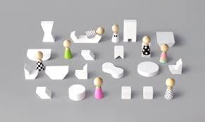 Mini Furniture White Moon Picnic - Rock furniture
