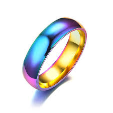 aliexpress buy 2017 wedding band for men 316l aliexpress buy rainbow 316l stainless steel ring for women