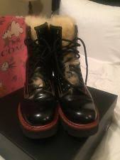 womens biker boots size 9 coach leather biker boots for ebay