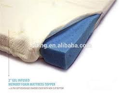 queen memory foam gel size 2 inch mattress topper bed pad