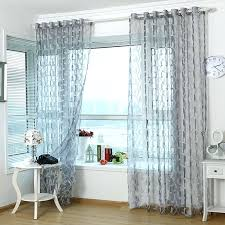 Grey Curtains 90 X 90 3d Tulle Sheer Curtains For Living Room Light Grey Leaves Window