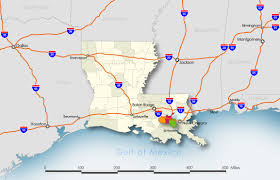 Louisiana Highway Map Transportation Port Of South Louisiana