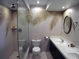 Bathroom Tile Shower Design Bath And Shower Designs Tile Murals With Coconut Tree Palm