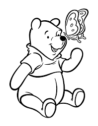 pooh bear coloring page free printable winnie the pooh coloring