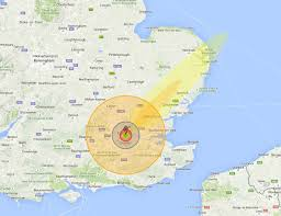 Google Maps Radius Nuke Map See What A Nuclear Bomb Would Do To Your Home Town