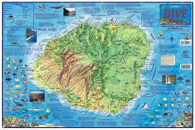 Map Hawaii Hawaii Map Kauai Dive Map Laminated 2011 By Frankos Maps Ltd
