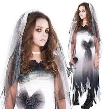 Ghost Bride Halloween Costume Girls Graveyard Ghost Bride Zombie Corpse Halloween Fancy Dress