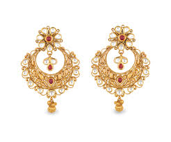 gold earings buy antara chandbali gold earring for women online best gold
