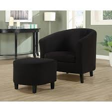 Black Accent Chair Black Padded Microfiber Accent Chair And Ottoman Free Shipping