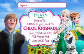 undangan ulang gambar frozen undangan terbaru