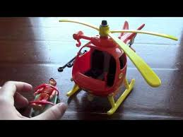 fireman sam toys playset helicopter burning house ion