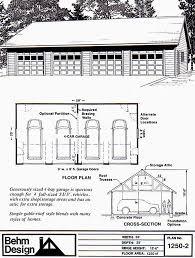 2 story garage plans 4 car attic one story garage plan blueprints 1250 2 50 x 25 behm