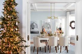 Christmas Decorations For Homes Charming Design With Gold Cute Accessory On Slender Casuarina Tree