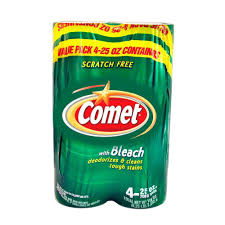 Comet Bathroom Cleaner by Comet 25 Oz Disinfectant Cleanser With Bleach 10678112100641a