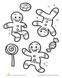gingerbread men worksheet education