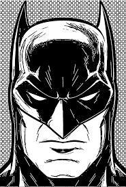 batman face front manga coloring page wecoloringpage