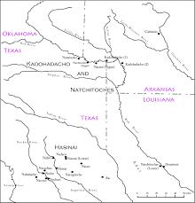 Louisiana Rivers Map Early Caddo History El Camino Real De Los Tejas National