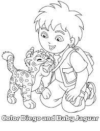 Baby Jaguar Love Diego In Go Diego Go Coloring Page Netart Go Diego Go Coloring Pages