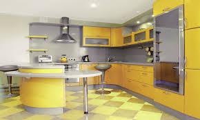 yellow modern kitchen white kitchen with grey tile floor green kitchen cabinets yellow